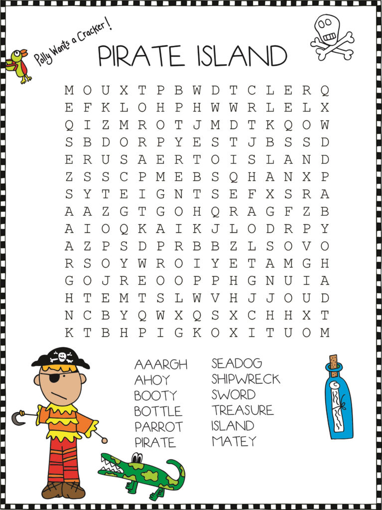 Pirate Crossword Puzzles Easy And Hard Activity Shelter