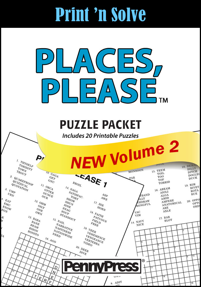 Places Please Puzzle Packet Penny Dell Puzzles