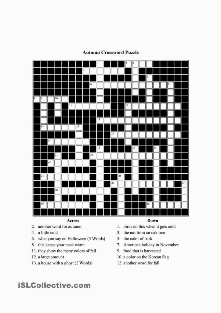 Printable 2 Speed Crossword Printable Crossword Puzzles