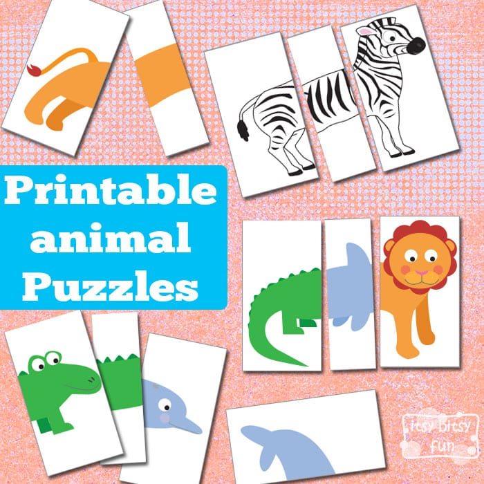 Printable Animal Puzzles Busy Bag Itsybitsyfun