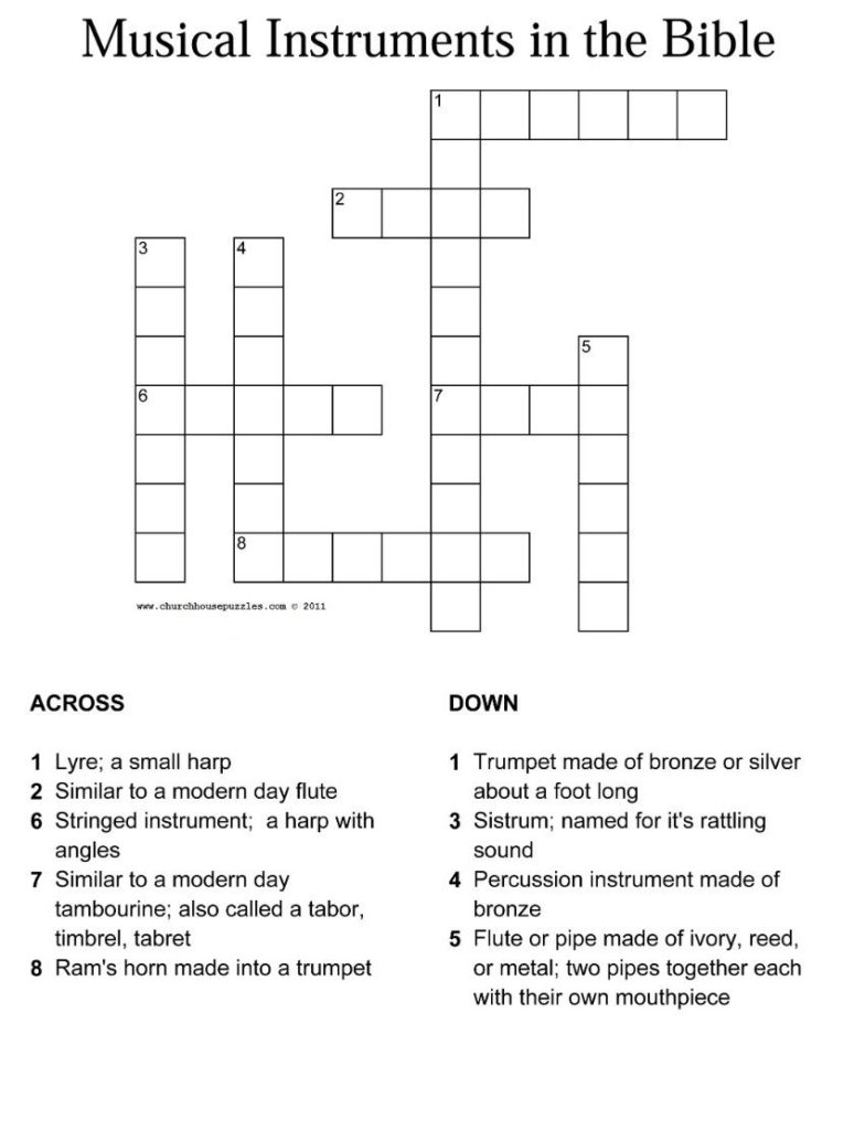 Printable Bible Crossword Puzzles For Youth Printable