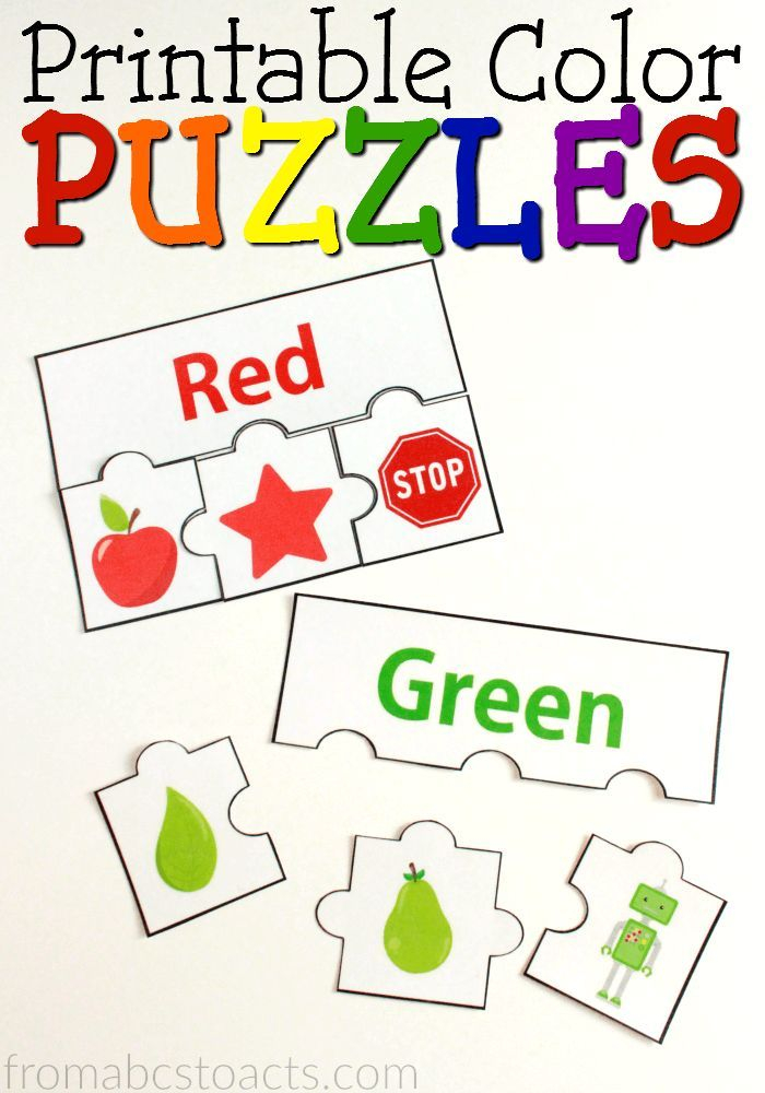 Printable Color Puzzles Color Activities Color Puzzle