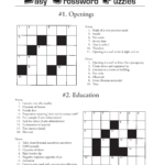 Printable Crossword Puzzles Template Templates At