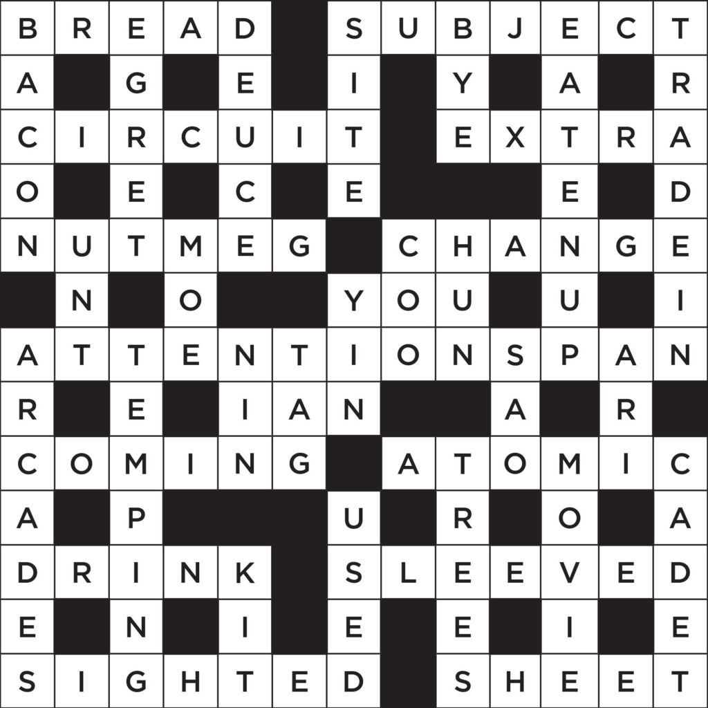 Printable Crossword Puzzles With Answers Reader S Digest