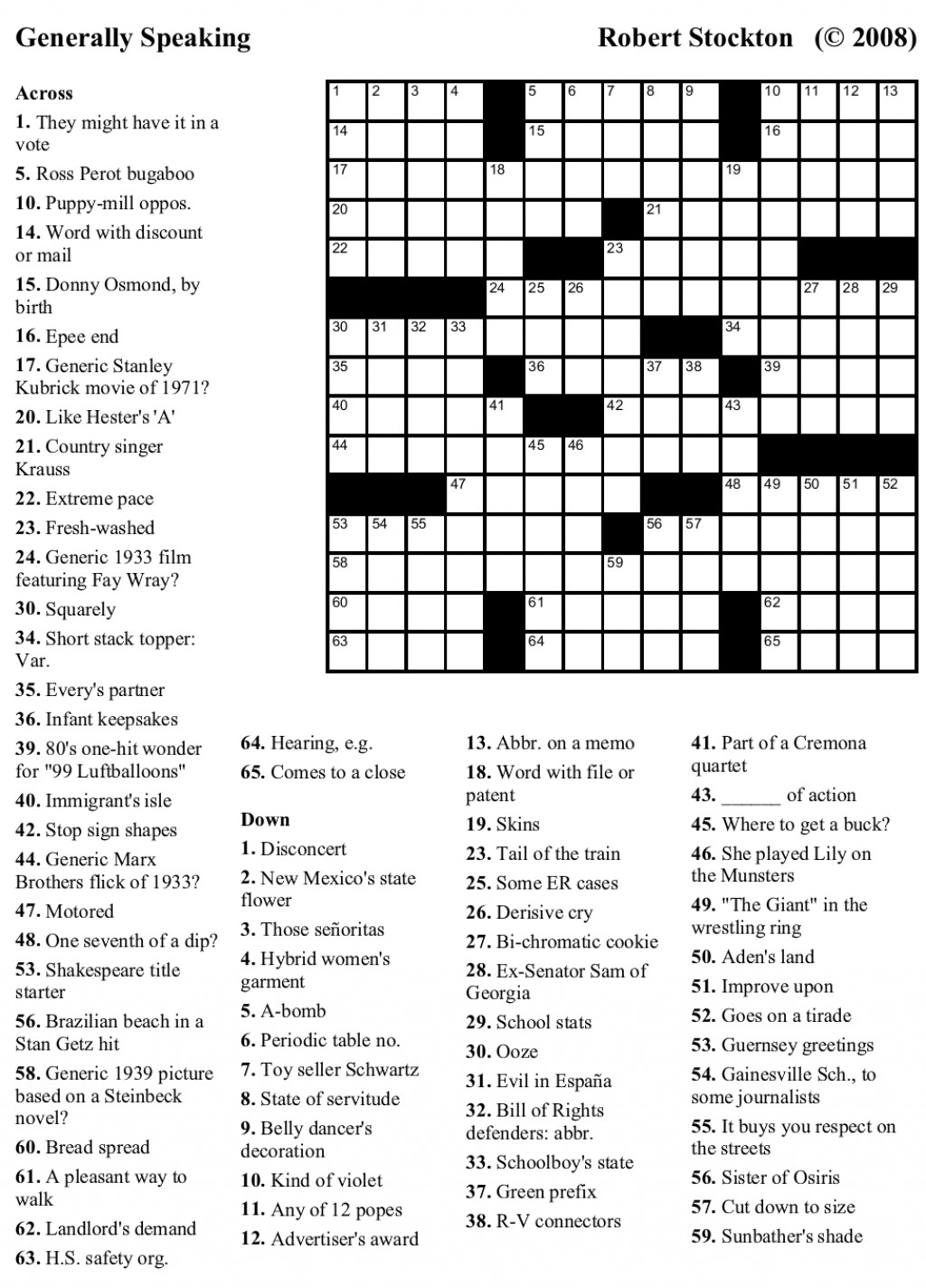 Printable Crossword Puzzles For 9 Year Olds