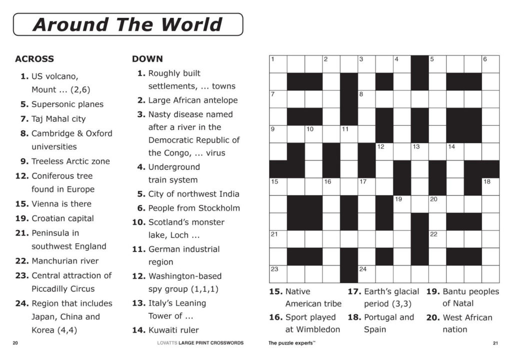 Printable Crosswords For Year 4 Printable Crossword Puzzles