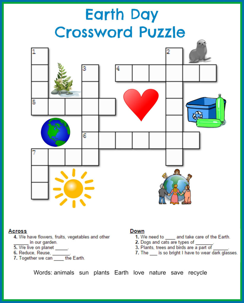 Printable Crosswords Puzzles Kids Activity Shelter