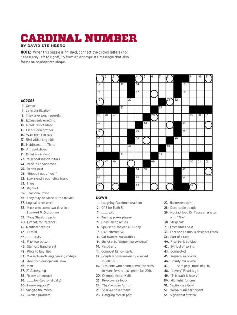 Printable Daily Record Crossword Printable Crossword Puzzles