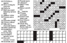 Printable La Times Crossword 2019 Printable Crossword