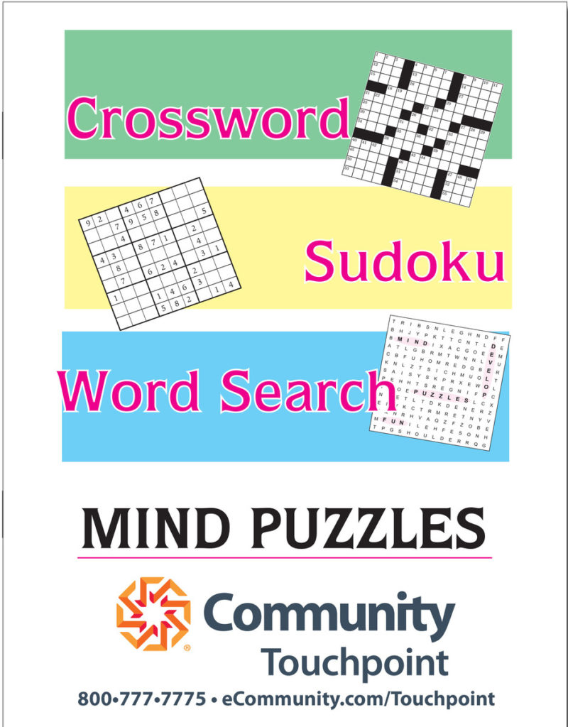 Printable Puzzle Booklet Printable Crossword Puzzles