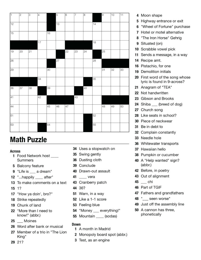 Printable Puzzles For High School Students Printable