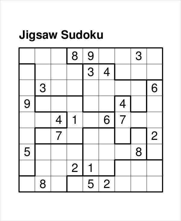 Printable Sudoku Puzzle 7 Free PDF Documents Download