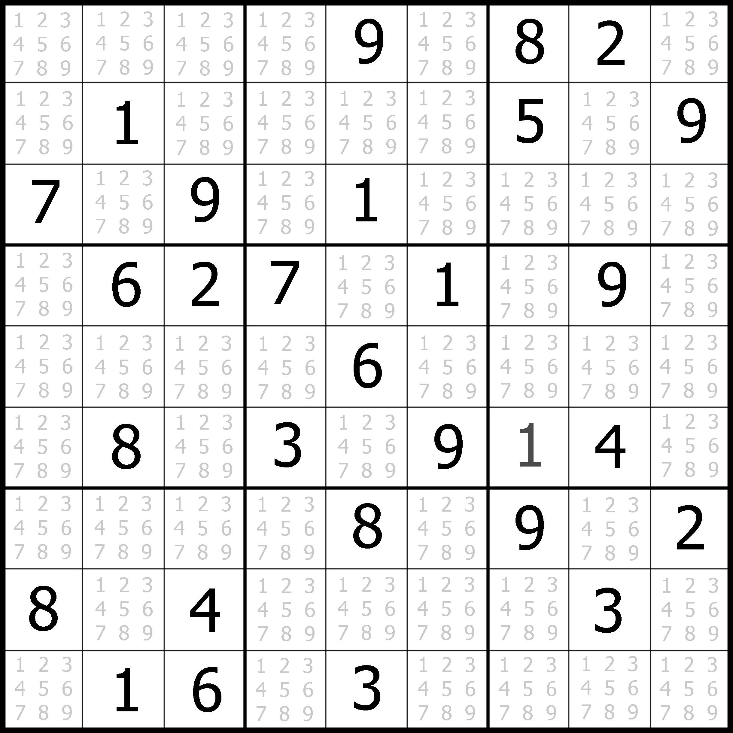 Free Easy Sudoku Printable Puzzles
