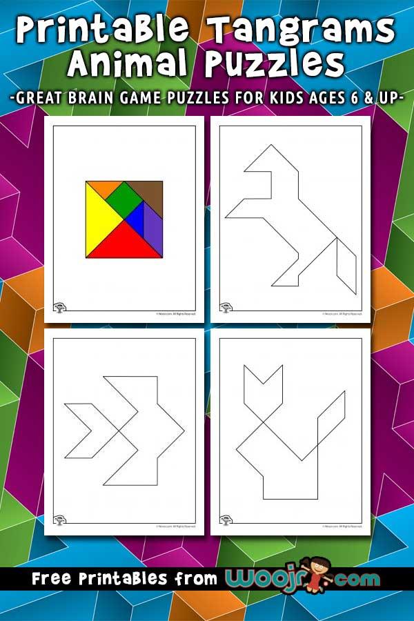 Printable Tangrams Animal Puzzles Woo Jr Kids Activities