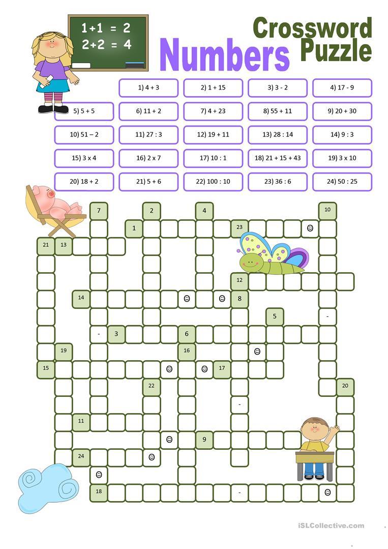 Esl Crossword Puzzles Printable Free