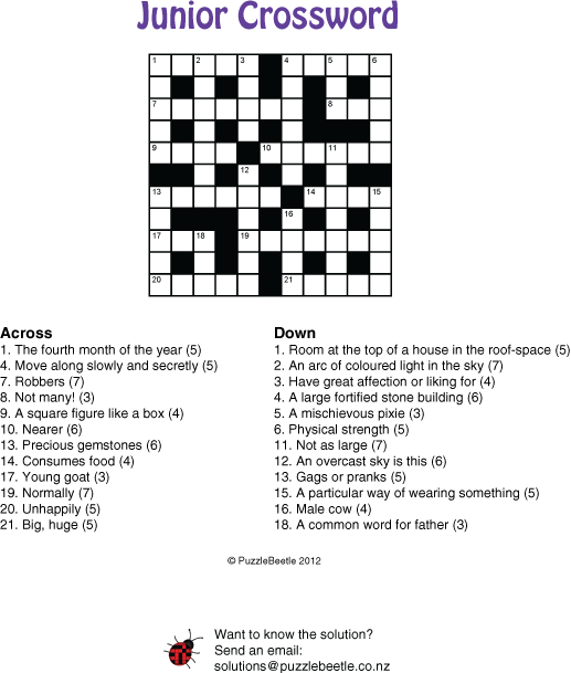 Puzzles And Crossword Samples New Zealand PuzzleBeetle
