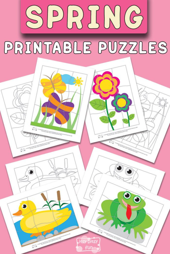 Spring Printable Puzzles For Kids Itsybitsyfun