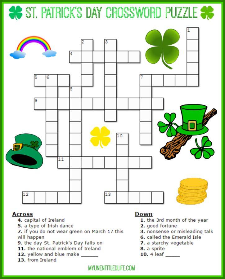 Free Printable St Patrick's Day Crossword Puzzles