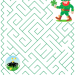 St Patricks Day Maze Puzzle Free Printable Puzzle Games
