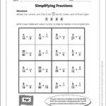 Sudoku Puzzle Simplifying Fractions Printable Sudoku