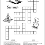 Summer Crossword Puzzles For Kids Tree Valley Academy