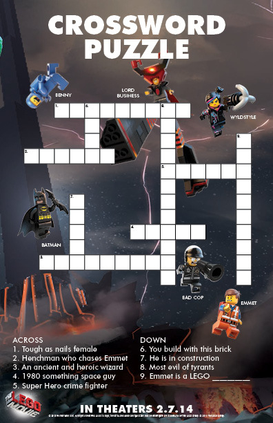 The LEGO R Movie Crossword Free Printable Coloring Pages