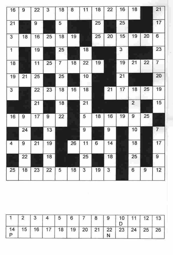 The Roving Frog Clueless Crosswords Codebreakers