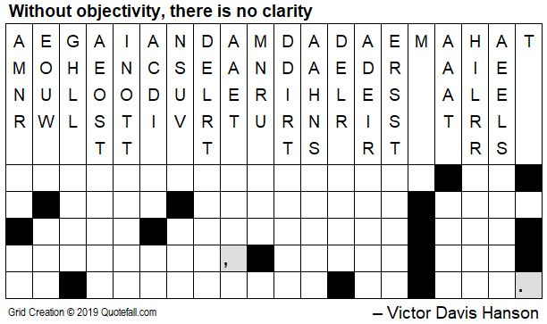 Today S Quotefall Puzzle By Victor Davis Hanson