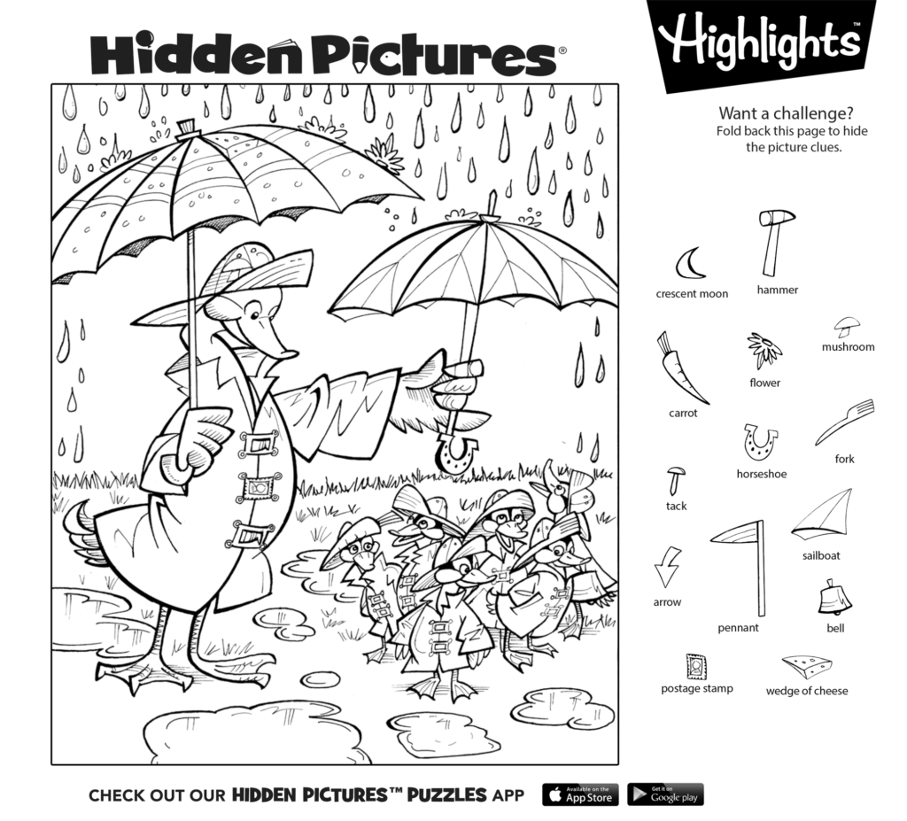 Try Solving This Hidden Pictures Puzzle Yourself Then