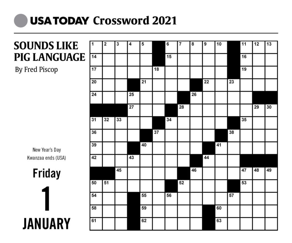 USA Today Crossword Puzzles 2021 Day To Day Calendar