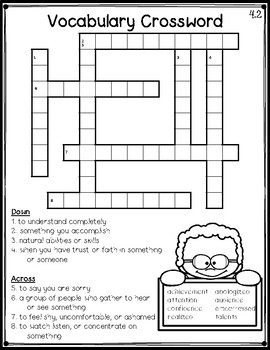 Wonders 3rd Grade Vocabulary Crossword Puzzles Unit 4 By