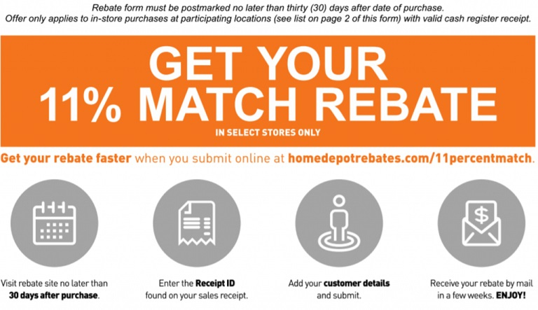 11 Home Depot Rebate On In Store Purchases The Money Ninja