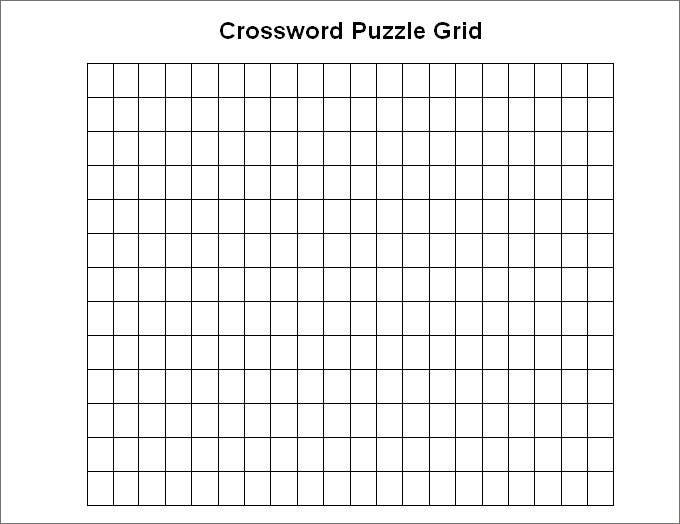 Printable Crossword Template Free