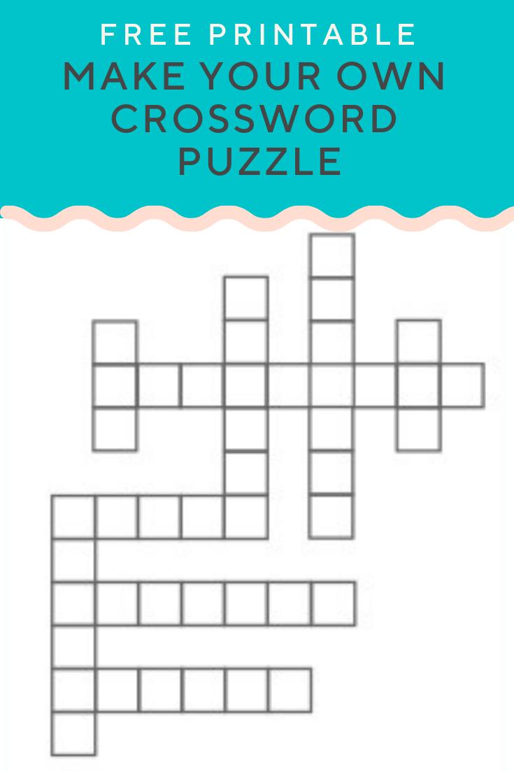 Free Printable Crossword Maker For Teachers