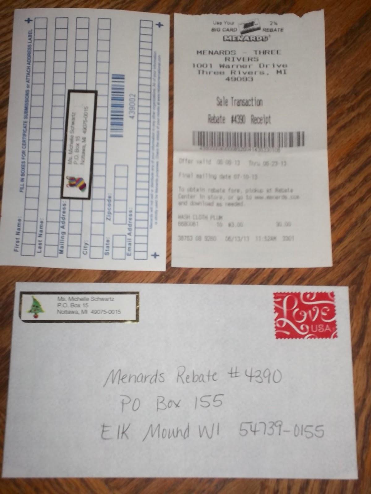 Menards Rebate Form Address