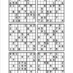 Free Printable Sudoku Puzzles 6 Per Page Sudoku Printable