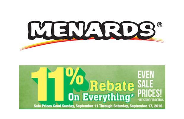 Get An 11 Rebate On Everything At Menards 96 5 WKLH