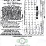 Menards 11 Price Adjustment Rebate 8201 Purchases 2 10
