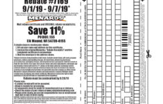 Menards 11 Rebate 7169 Purchases 9 1 19 9 7 19