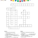 New Year S Crossword Puzzle New Years Activities