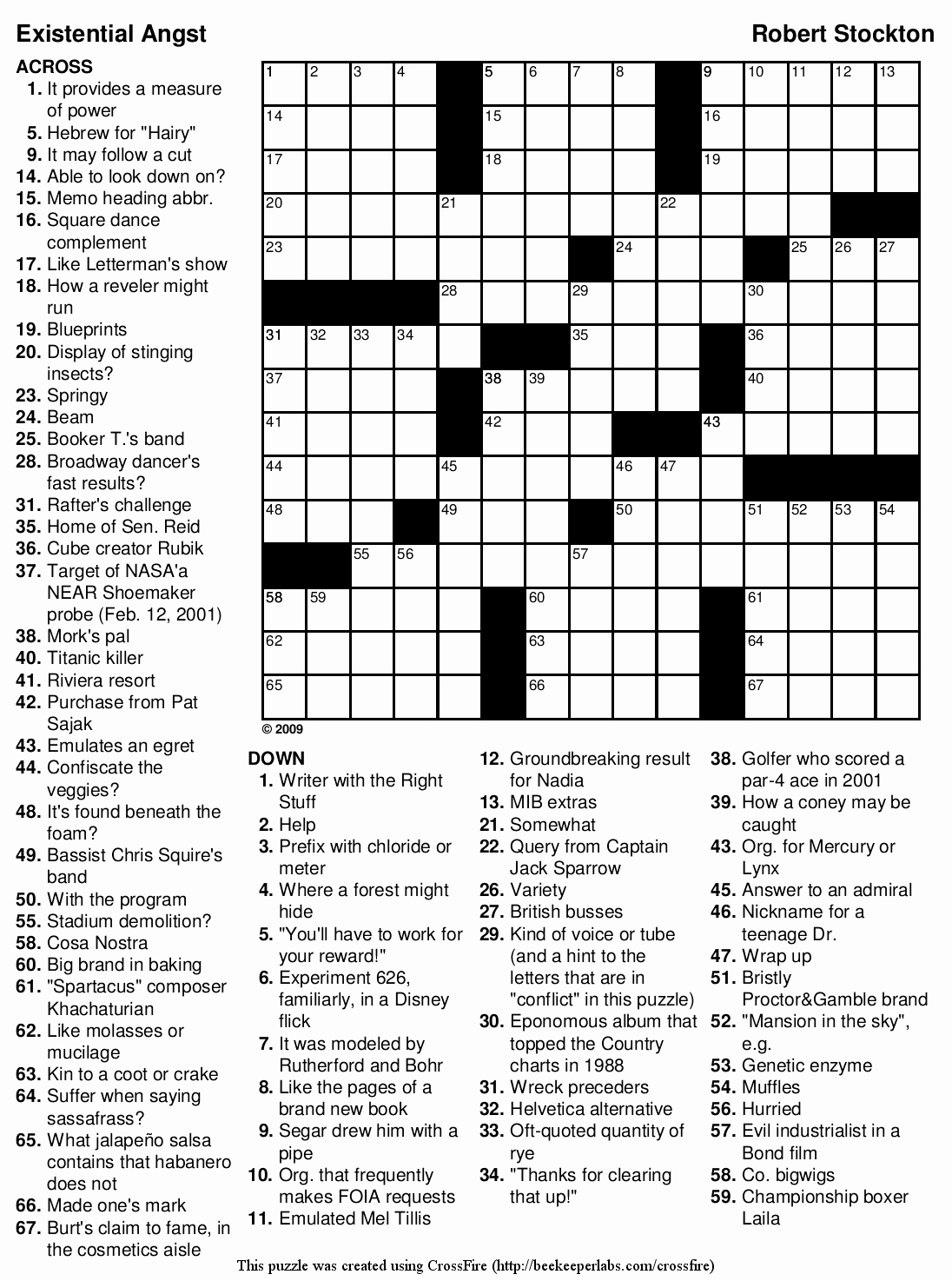 Free Printable Crossword Puzzles Hard Difficulty