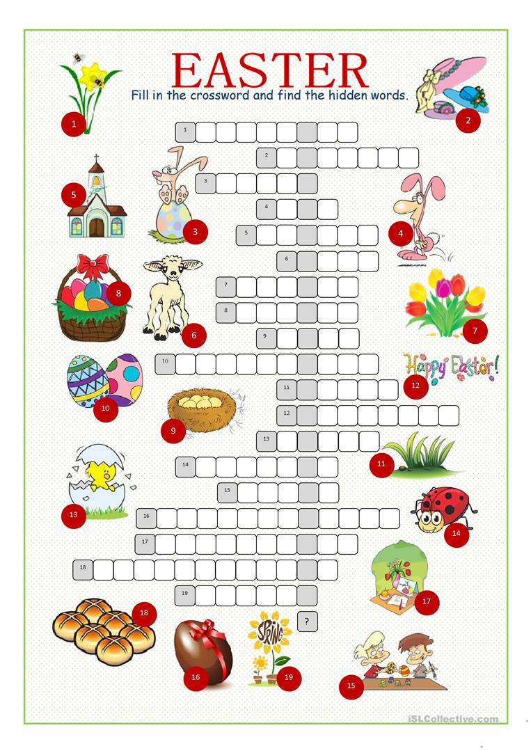 Free Printable Easter Puzzles For Adults