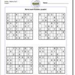 Printable Sudoku 4 Per Page Blank Printable Sudoku Free