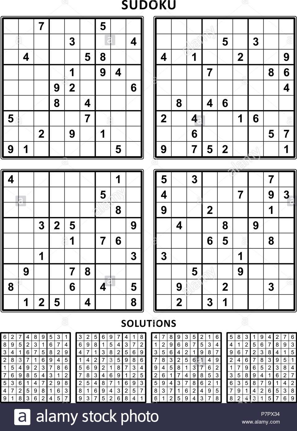Free Printable Sudoku Puzzles 4 Per Page
