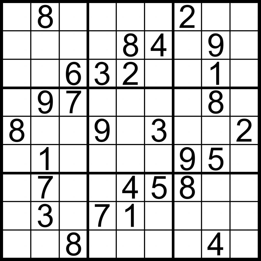 Free Printable Large Print Sudoku Puzzles
