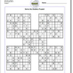 Printable Sudoku Puzzles 4 Per Page Printable Crossword