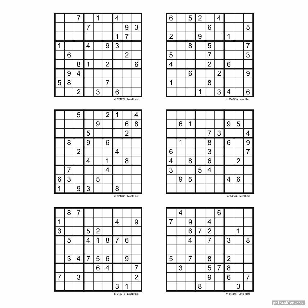 Printable Sudoku Puzzles For Free 6 Per Page Sudoku