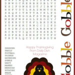 Printable Thanksgiving Puzzles For Adults Printable