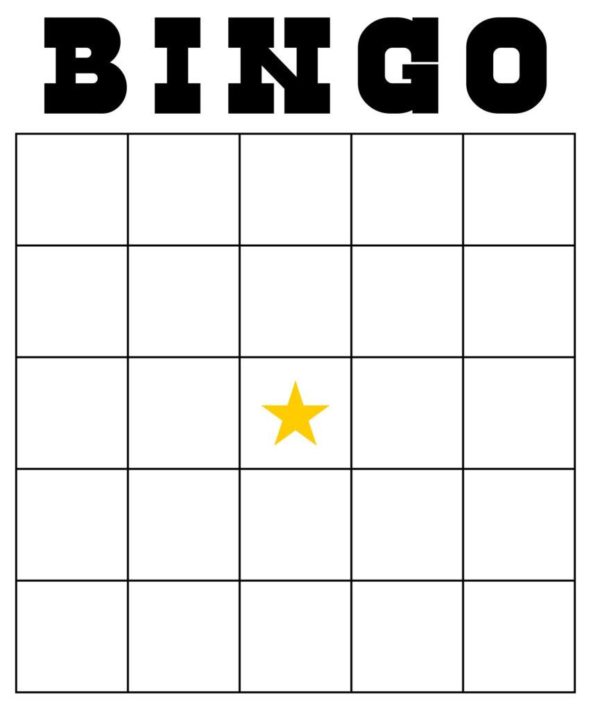 10 Best Custom Bingo Card Printable Template Printablee
