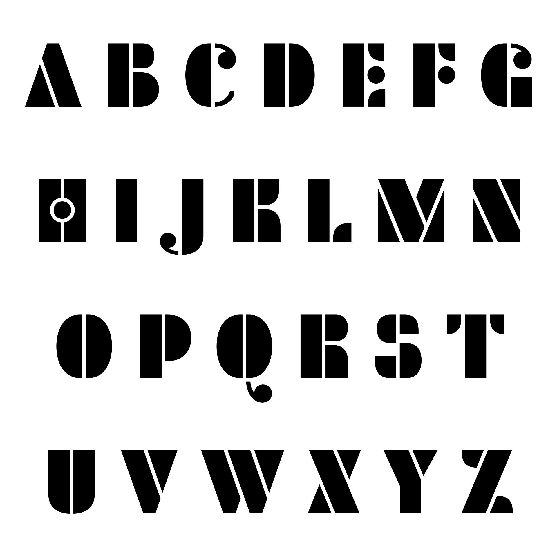 Free Letter Printables